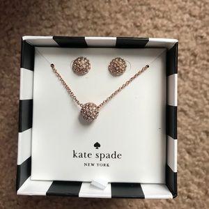 Kate spade night lounge jewelry set nwt